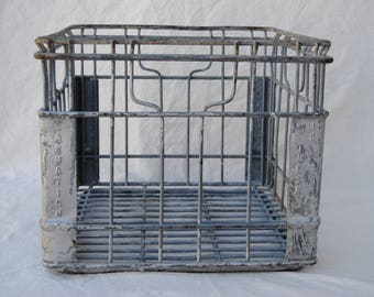 Carnation Metal Milk Crate