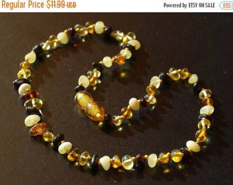 15% OFF Multicolor baltic amber baby teething necklace