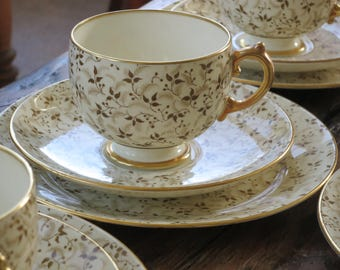 Grosvenor vintage china coffee/tea cup trio