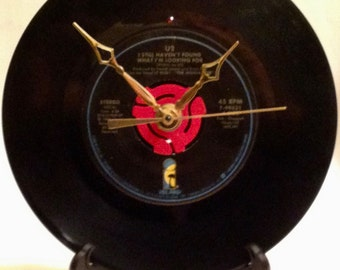 "Recycled U2 7"" Record / I Still Haven't Found What I'm Looking for / Record Clock"