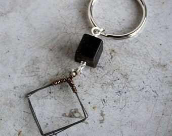 Piano Wire and Piano Key Keyring