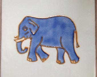 Elephant in Blue