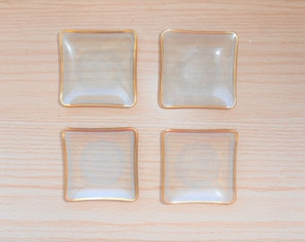 Antique Vintage Butter Pats - Glass
