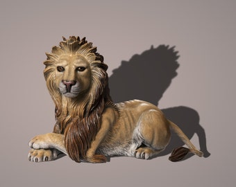 """Bronze Lion """"The Guardian"""" Amazing Detail of a Bronze Lion!!! Limited Edition Sculpture by BARRY STEIN"""