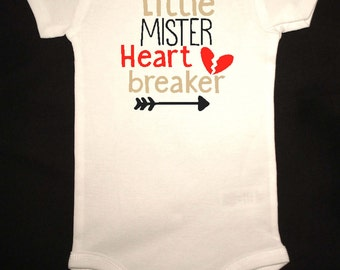 Little Mister Heartbreaker Onesie