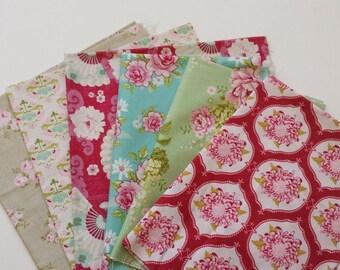 SHOP CLOSING SALE  Tilda Fabric - Mix Fabric Bundle- 6 Pcs