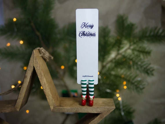 MYBOOKMARK // Christmas Elf in Red shoes bookmark // Christmas collection // Handmade and crafted with love // Unique and creative gift //
