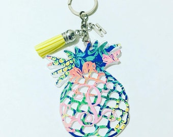 Personalized Pineapple keychain