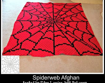 C2C Graph, Spiderweb Afghan C2C Graph and Written Word Chart