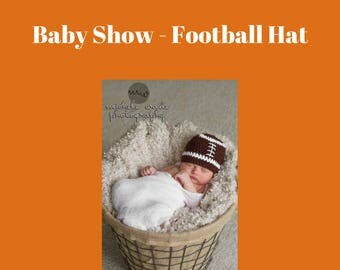 Baby Show - Football Hat - 6 to 12 months