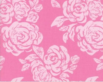 Early Bird by Kate Spain for Moda - Floral - Blooms - Pink - 1/2 Yard Cotton Quilt Fabric