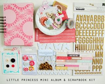 SALE Little Princess Mini Album / Journal and Scrapbook Kit