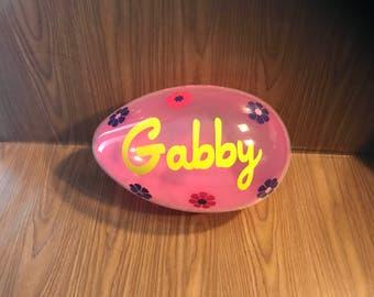 Personalized Jumbo Easter Egg / Easter Egg / Personalized Easter Egg / Easter Basket / Plastic Egg / Personalized /  Flowers