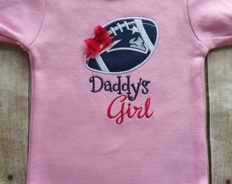 New England Patriots Inspired Girl Shirt or bodysuit