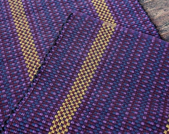 Handwoven purple cotton rug