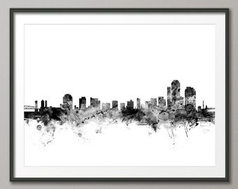 Wilmington Skyline, Wilmington Delaware CityscapeArt Print (2582)