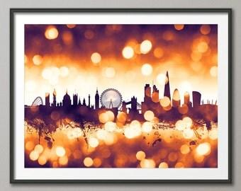 London Skyline, London Cityscape England, Art Print (2586)