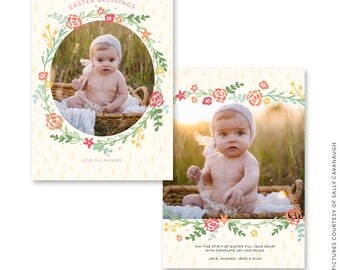 5x7 Easter Photo Card - Instant download - e1473