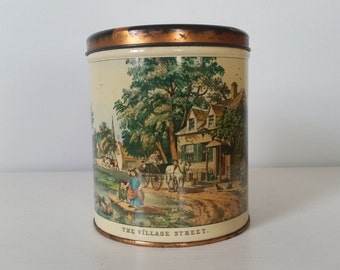 Currier and Ives Tin by Decoware