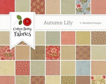 25% Off SALE Autumn Lily Charm Pack by Blackbird Designs for Moda - One Charm Pack - 2740PP
