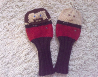 Knit Golf Club Cover, Golf Club Cover, Character Golf Head Cover, Star Trek, One golf Cover