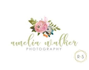 Pre-Made Logo,Watermark, Logo, Watermark, Boutique, Photographer, Event Planner, Pre-made, Unique, Watercolor Logo, Watercolor