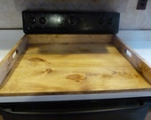 CLEARANCE SALE, Stove Top Cover, Farmhouse Style Kitchen, Noodle Board, Dough Board, Wooden Tray, Stove Top Cover