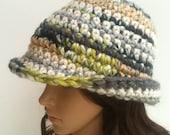DECEMBER SALE Crochet Cloche.... Crochet Brim Hat.. Crochet Hat....Winter Crochet Hat