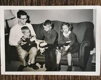 Original Vintage Photograph Kids & Kittens