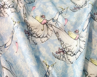 Fabric, Baby's Nursery Fabric,  Whimsical Cotton Fabric Quilt Weight Fabric
