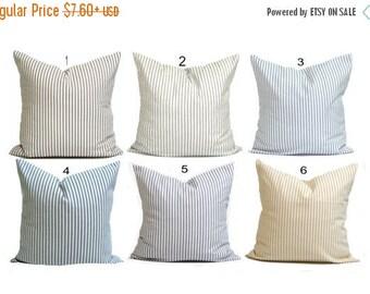 Ticking Stripe Pillow Covers, French Ticking Decorative Pillow, Throw Pillow, Cushion, All Sizes,Euro Sham,cm,French Country.Farmhouse Decor