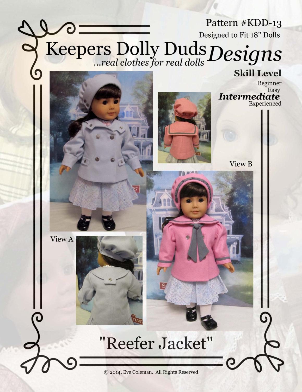 Pdf Pattern Kdd13 Reefer Jacket Amp Hat An Original