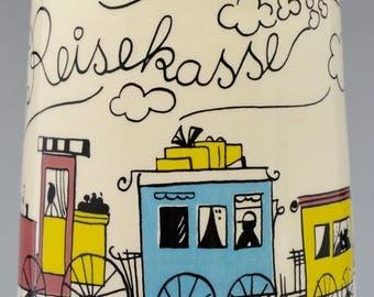 Rare W. Goebel Reisekasse Porcelain Children's Money Bank - Dated 1963 - Made in West Germany