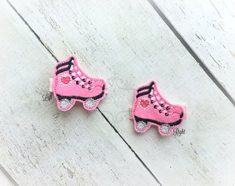 Roller Skate Hair clip Roller Blade hair clippie Sport Clip  Pick one or two. Pick Left side or Right.