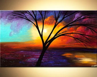 Canvas Print - Stretched, Embellished & Ready-to-Hang  - Glory - Art by Osnat