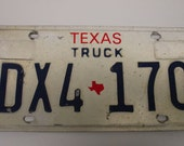 Vintage Texas Truck License Plate 1980s Truck plates Texas Plates