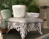 Vintage Cast Iron Stool French Stool Footstool