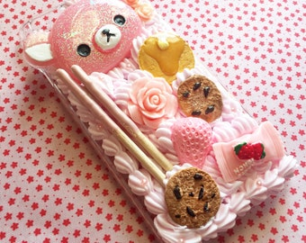 Kawaii Decoden Pastel Pink Whip Cream iPhone 6/6s Phone Case