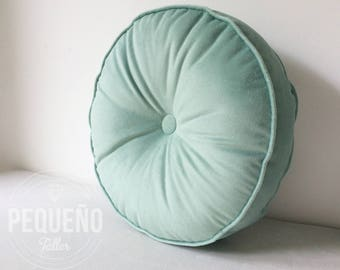 Round PIllow upholstery panne, all customized!!! many colours! nordic style
