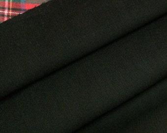 Corduroy Fabric / Black Corduroy Fabric / Cotton Corduroy Fabric / Fine Wale Corduroy / Light Weight Corduroy / By The Yard