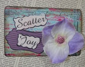 """SALE ACEO ATC one-of-a-kind Original """"Scatter Joy"""" Artist Trading Card"""