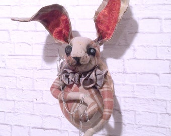 Bernie Hare Faux Taxidermy |animal head |stuffed animal head |taxidermy rabbit |hare |woodland |nursery |baby gift