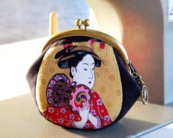 Metal frame coin purse Geisha