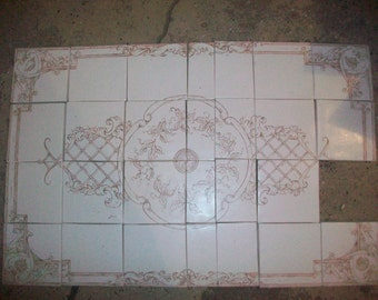 Hand painted Tile Mural/French Style