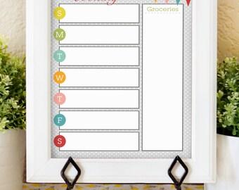 Weekly Menu Planner - 8x10 Printable