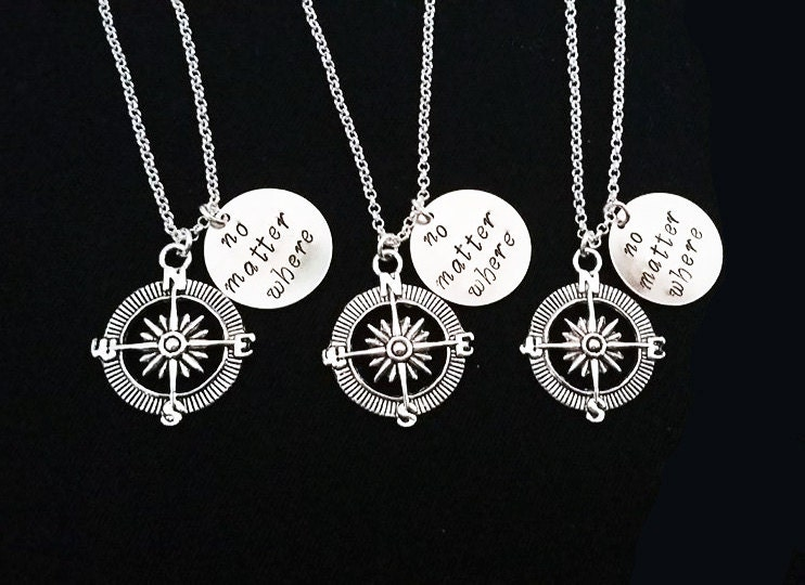 best friend jewelry for 3 3 best friend necklaces three best friends no matter where 975
