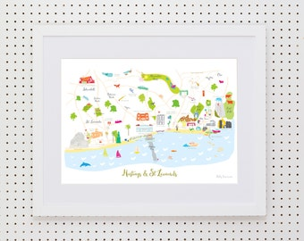 Map of Hastings Art Print