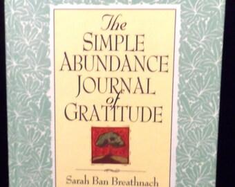 Simple Abundance Journal of Gratitude Book 12 months Breathnach Hardcover