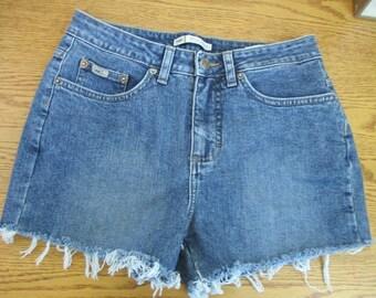 "LEE CUTOFF Jean SHORTS Cut Off W 29 Measured Hot Pants 29"" waist free shipping usa"