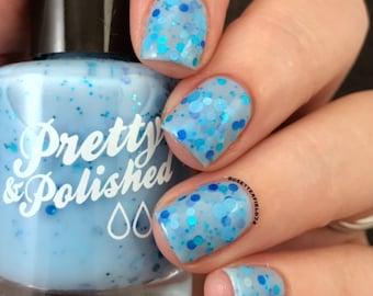 Blue Balls Glitter Nail Polish